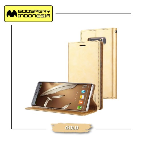 Foto Produk GOOSPERY Xiaomi Mi A2 Lite / Redmi 6 Pro Blue Moon Flip Case - Gold dari Goospery Indonesia