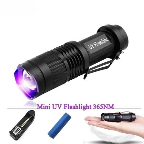 Foto Produk Paket Senter LED Cree Q5 395nm UV Money Detector Uang Palsu Forensik dari lbagstore