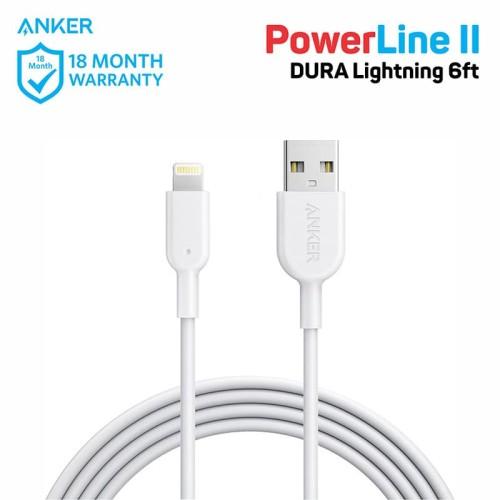 Foto Produk Kabel Charger Anker PowerLine II 6ft/1.8m Lightning White - A8433 dari Anker Indonesia