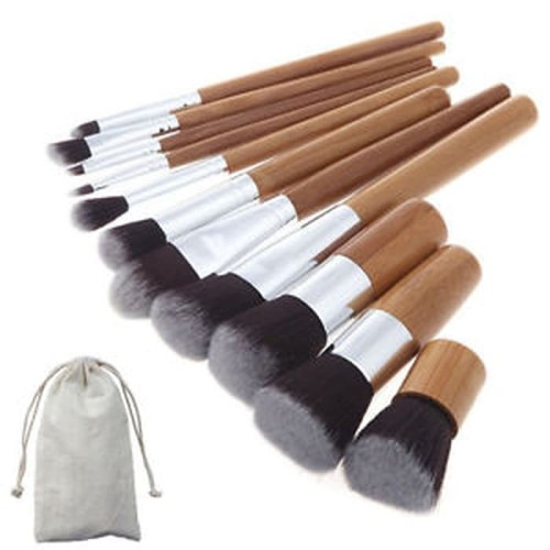 Foto Produk Kuas Make Up | Cosmetic Make Up Brush 11 Set with Pouch dari angel-city