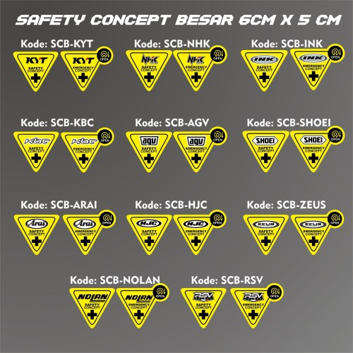 Foto Produk Stiker Visor Helm Safety Concept dari @helm_nation