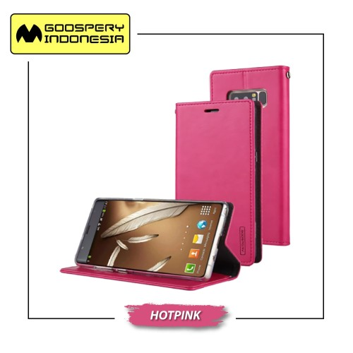 Foto Produk GOOSPERY iPhone XS Max Blue Moon Flip Case - Hotpink dari Goospery Indonesia
