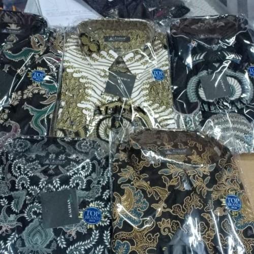 Foto Produk Kemeja batik alisan lengan panjang size jumbo 16.5-17.5 dari Sensens Store