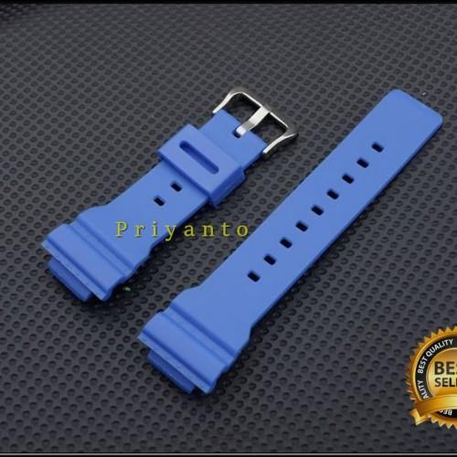 Foto Produk Tali jam tangan rubber watch casio baby-g Ba-110 ba110 ba 110 biru dari PRIYANTO
