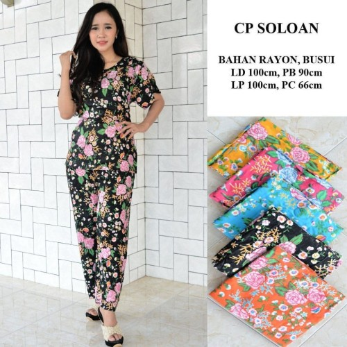 Foto Produk Setelan Celana Panjang Soloan Shaby / Cp / Baju Tidur / Baby Doll dari RisqianaBatik