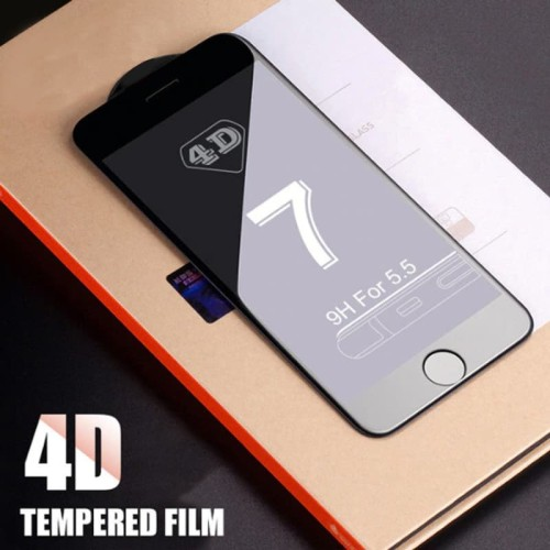 Foto Produk Tempered Glass FULL COVER 4D iPhone 6 6s / 6 PLUS / iPhone 7 / 7 PLUS - IP 6, Hitam dari Dua Hari Jakarta