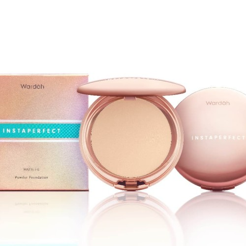 Foto Produk Wardah Instaperfect MATTE FIT Powder Foundation 12. Ivory 13 g dari Wardah Official