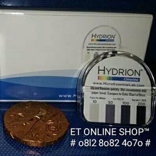 Foto Produk Hydrion CM240 Test Paper - Tes Kit Chlorine - Kertas Uji Cepat Klorin dari ERDUA Business