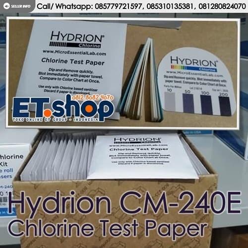 Foto Produk Hydrion CM240E Chlorine Test Kit Paper 0-200ppm - Testkit utk Klorin dari easytest