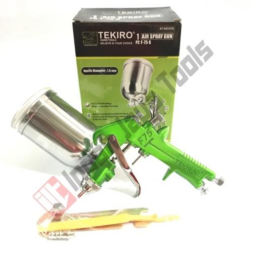 Foto Produk TEKIRO Spray Gun F75 G Tabung Atas - Semprot Cat Air F 75 dari Indah Jaya Tools