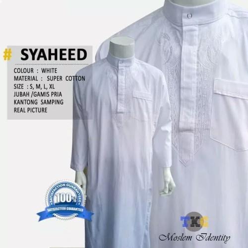 Foto Produk Gamis Pria Muslim Putih Polos Jubah Keren Hijrah Cowok Masa Kini Baju dari Modis Trendy