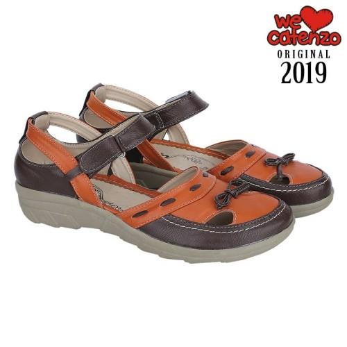 Foto Produk Sepatu Sandal Flatfrom 3 Cm Tan Distro Catenzo RB - 005 dari Fair Fashion
