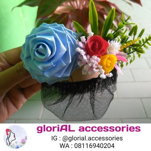 Foto Produk Harnet Bunga Mawar / Pita Satin 003 dari Glorial Accessories