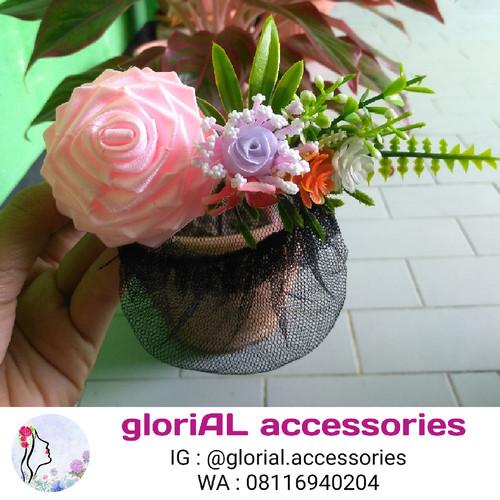 Foto Produk Harnet Bunga Mawar / Pita Satin 004 dari Glorial Accessories