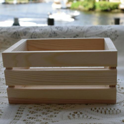 Foto Produk 20x15x15cm Mini wood crates kotak kayu peti jati belanda rustic dari Anugerah Sarana Abadi CV