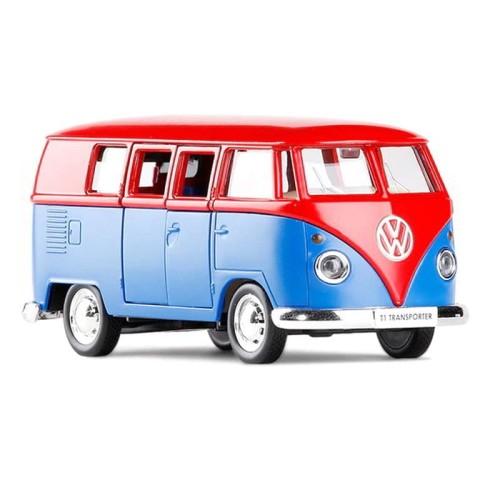 Foto Produk RMZ City Diecast Volkswagen Samba Skala 1:32 Pullback Red Blue dari Herokids