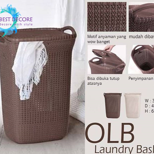 Foto Produk Olymplast Laundry Basket OLB Coklat dari Best Decore