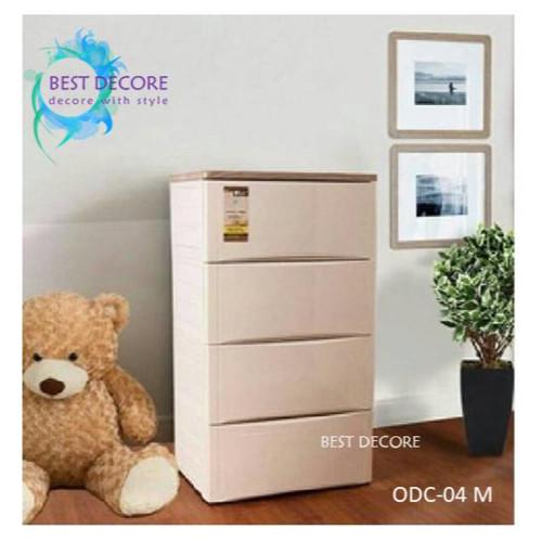Foto Produk Olymplast Drawer Cabinet Modern 4 Susun - ODC 04M dari Best Decore