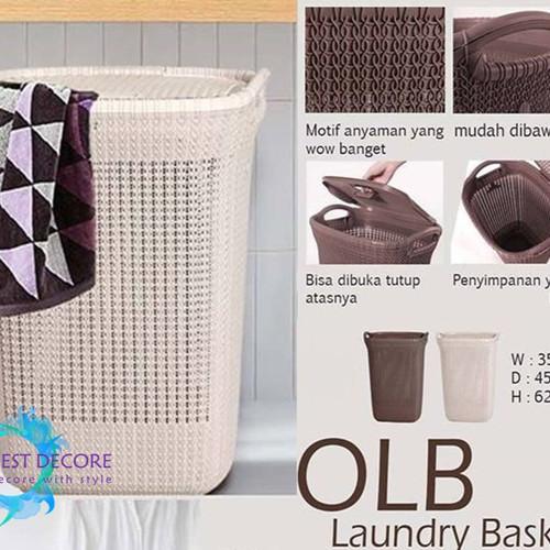 Foto Produk Olymplast Laundry Basket OLB Cream dari Best Decore