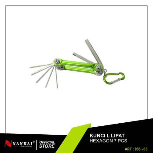 Foto Produk Kunci L Lipat Hexagon 7 Pc Nankai dari Nankai Tools
