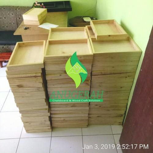 Foto Produk 20x30cm Hampers Wooden Box seserahan kotak parcel kayu hantaran dari Anugerah Sarana Abadi CV
