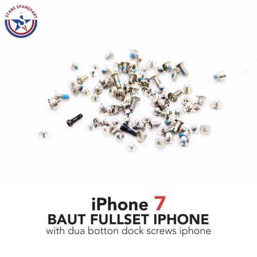 Foto Produk iPhone 7 7G Baut set-screw set full lengkap Original - Silver dari Stars Sparepart