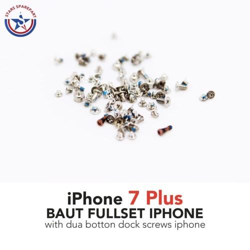 Foto Produk iPhone 7 Plus 7+ Baut set-screw set full lengkap Original - Rose Gold dari Stars Sparepart