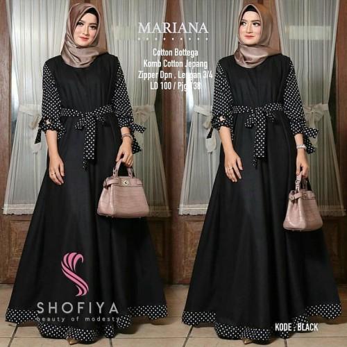 Foto Produk Baju Gamis Syari Balotelli Wanita Terbaru Mariana Polka Dress Termurah dari hijabafwa