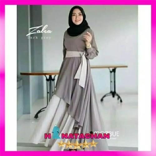 Jual Baju Gamis Syari Terbaru Dress Wanita Remaja Kombinasi Modern Kota Bandung Hinatachan Tokopedia