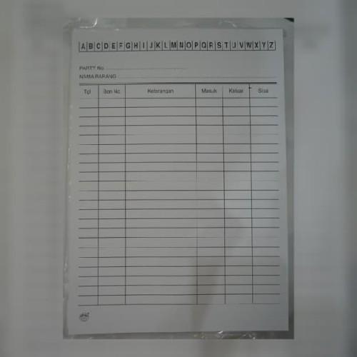 Foto Produk Kartu Stok Kecil Kuarto Kwarto/Kartu Persediaan Barang/Stock Card Stok dari ATK HOUSE