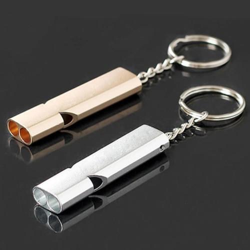 Foto Produk Gantungan Kunci Peluit Survival Outdoor Emergency Whistle Keychain - Silver dari lbagstore