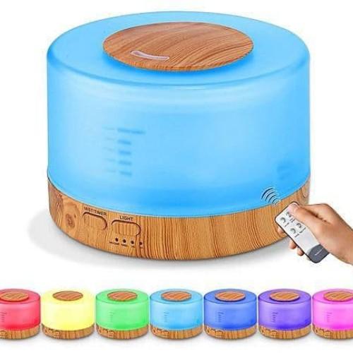 Foto Produk Ultrasonic Aroma Diffuser Humidifier Colorful LED-500ML Pelembab+Harum dari TerusJaya
