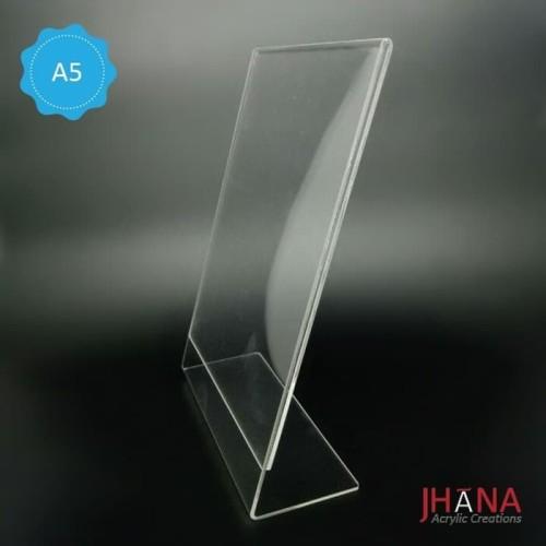 Foto Produk Acrylic Tentcard / tempat nomor meja / acrylic Ukuran A5 L murah dari Jhana Acrylic