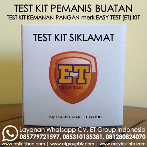 Foto Produk Test Kit Siklamat - Syclamate Testkit - Tes Uji Cepat Pemanis Buatan dari Sooper Shop