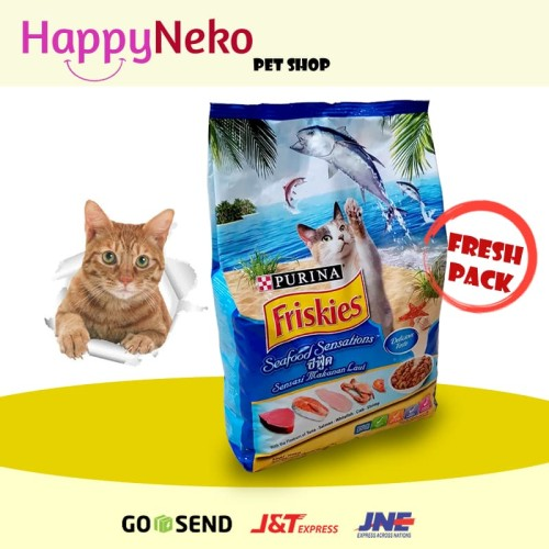 Foto Produk FRISKIES ADULT CAT FOOD SEAFOOD SENSATIONS 3KG dari HappyNeko Pet Shop