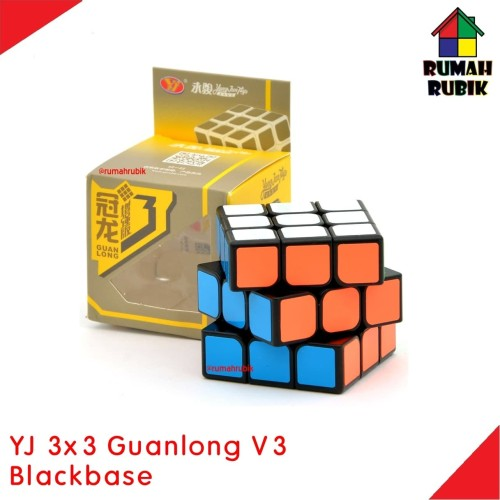 Foto Produk Rubik 3x3 Yongjun Guanlong V3 VERSI 3 Blackbase dari Rumah Rubik