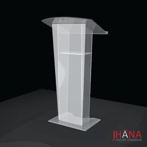 Foto Produk Podium acrylic/ meja pidato akrilik type PD13 #BISAGOJEK dari Jhana Acrylic