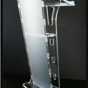 Foto Produk Podium acrylic/ meja pidato akrilik type PD18 #BISAGOJEK dari Jhana Acrylic