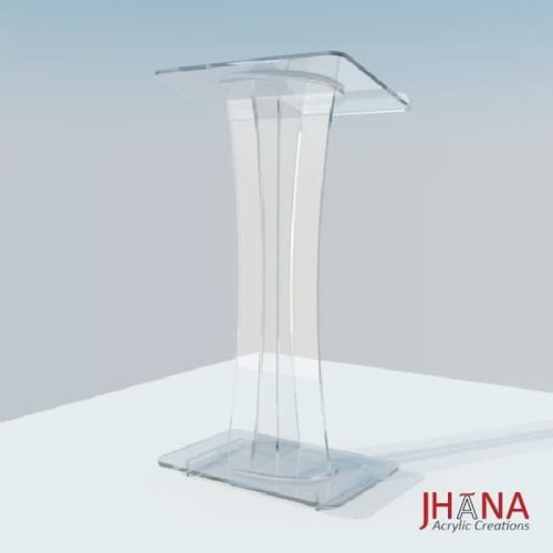Foto Produk Podium acrylic/ meja pidato akrilik type PD20 #BISAGOJEK dari Jhana Acrylic