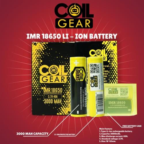 Foto Produk Authentic CoilGear Baterai Battery Batre 18650 3000mAh 40A Special dari VapeOi