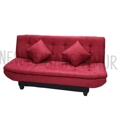 Foto Produk Sofa Bed Montana Pillow Maroon - Jabodetabek dari New Bintang Timur