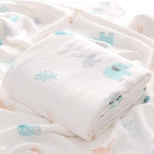 Foto Produk Kain Selimut Bamboo Muslin Blanket Baby Hoppipollakids - WoodLand Fore dari Hoppipollakids