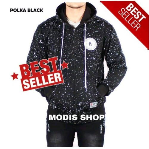 Foto Produk Jaket Sweater Hoodie Bomber Pria Zurrel BJL Polka dari Blizz