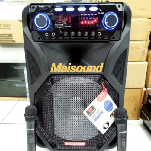 Foto Produk Speaker Portable Wireless ASATRON HT 8871 UKM 2 handheld Mic ORIGINAL dari Maisound