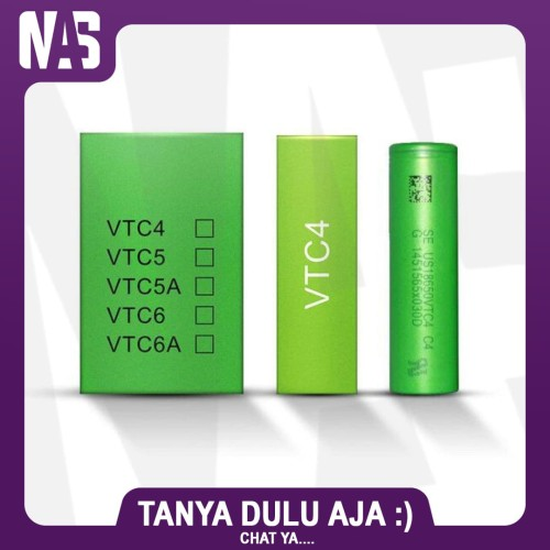 Foto Produk Sony VTC4 Authentic 18650 batrerai vape Battery batre vtc 4 original dari NAS VIRTUAL