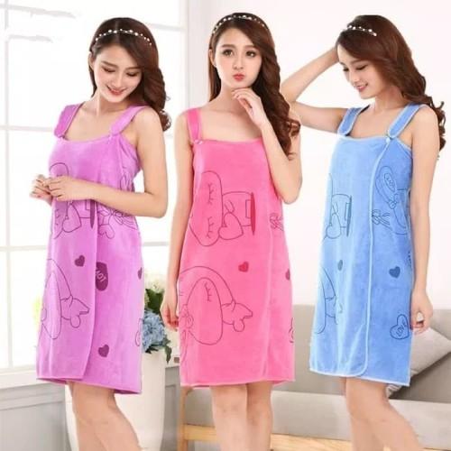 Foto Produk Handuk Baju Karakter Multifungsi ukuran 80x150 - Merah Muda dari Cen store acc