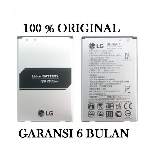 Foto Produk Baterai battery LG K10 2017 LG BL-46G1F Original 100% BL46G1F - Original Asli dari Pasti Original Asli