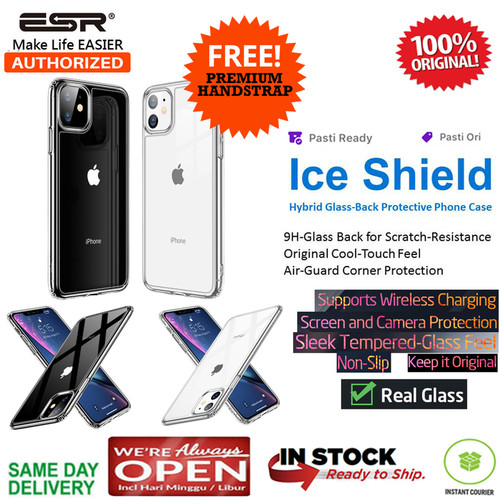 Foto Produk iPhone 11 / 11 Pro / 11 Pro Max Case ESR ICE SHIELD MIMIC GlassCase - Clear Glass, iPhone 11 Max dari Spigen Indonesia