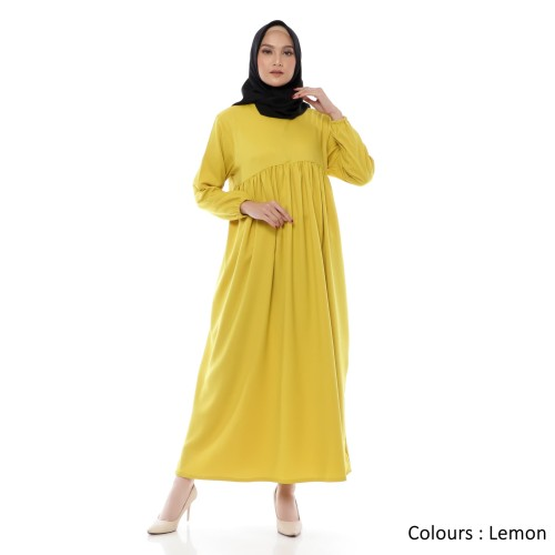 Foto Produk Gamis Wanita | Bonanza Dress | Muslim Polos Original | Tazkia Hijab - Lemon dari Tazkia Hijab Store