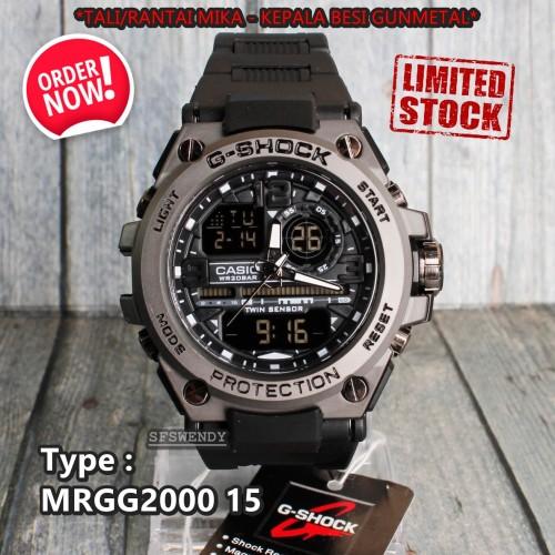Foto Produk G SHOCK Rantai Mika Metal Besi Full Black Jam tangan pria digital dari sfswendy
